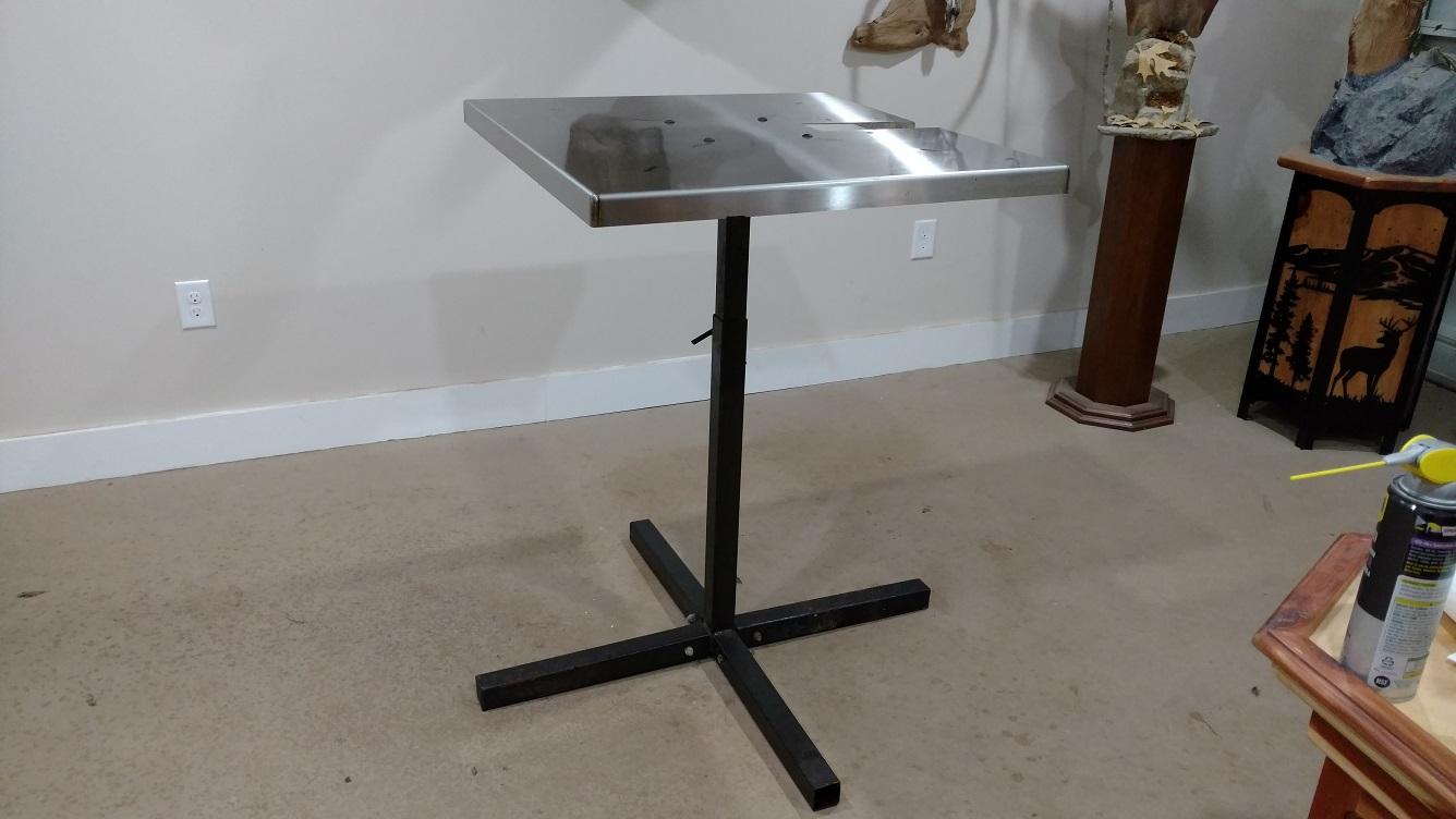 Used Van Dykes Stainless Steel Fleshing Table